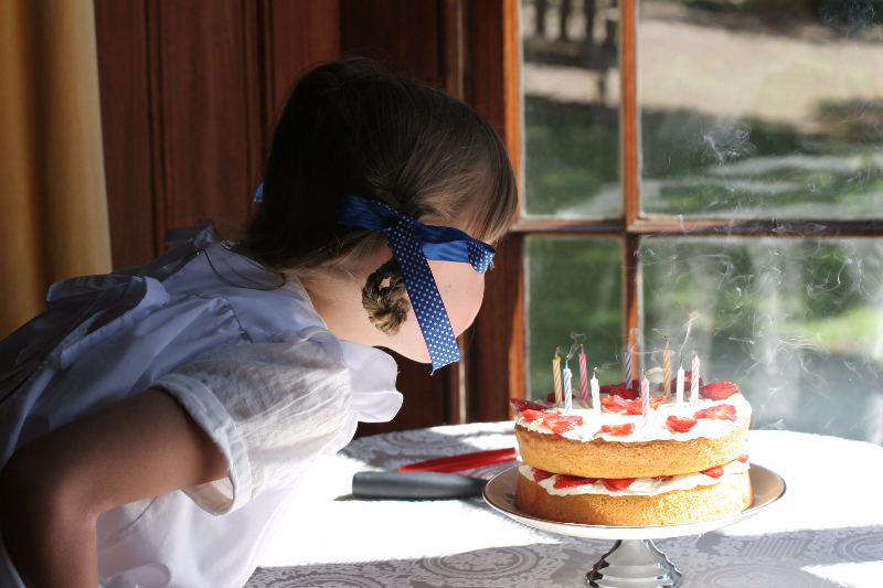 Zoe Robaerts Blows Out Her Candles.