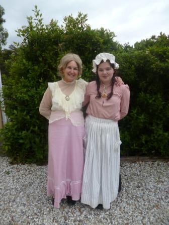 Harriet with Her Maid, Grand Daughter, Holly!